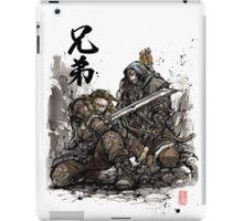 Kili and Fili from the Hobbit sumi ink and watercolor iPad Case/Skin