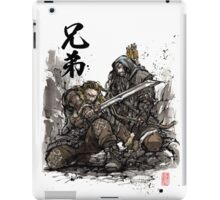 Kili and Fili from the Hobbit sumi ink and watercolor iPad Case/Skin