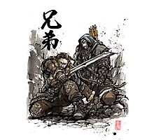 Kili and Fili from the Hobbit sumi ink and watercolor Photographic Print