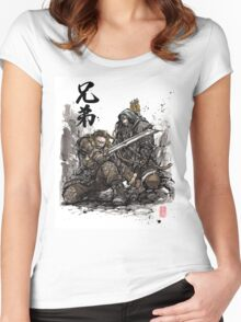 Kili and Fili from the Hobbit sumi ink and watercolor Women's Fitted Scoop T-Shirt