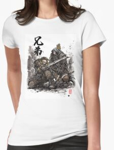 Kili and Fili from the Hobbit sumi ink and watercolor Womens Fitted T-Shirt
