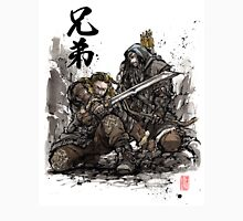Kili and Fili from the Hobbit sumi ink and watercolor Unisex T-Shirt