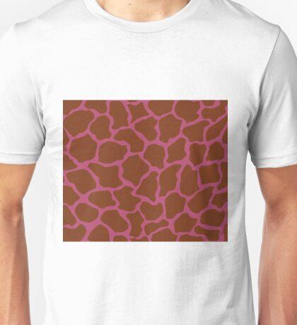 Irresistible or Raspberry Rose in Giraffe Pattern Unisex T-Shirt