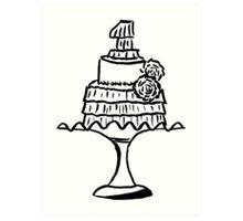 A Fancy Cake Art Print