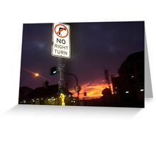 No Right Turn Greeting Card