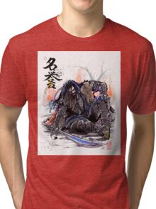 Thorin from the Hobbit sumi and watercolor style Tri-blend T-Shirt