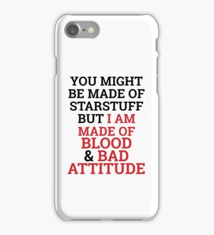 Mostly It's The Bad Attitude iPhone Case/Skin