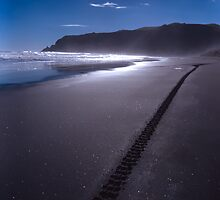 Piha at the end of the day by sxpnz