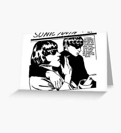 LOGO - SONIC YOUTH Greeting Card