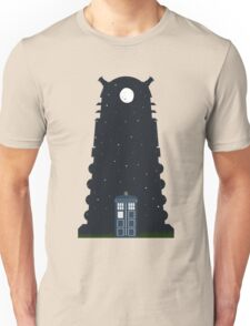 The Police box on the night... Unisex T-Shirt