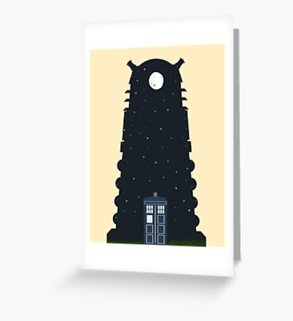 The Police box on the night... Greeting Card