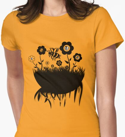 Pushing the daisies.. Womens Fitted T-Shirt