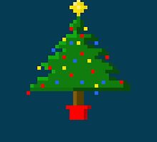Pixel art Christmas tree  by Amber Elen-Forbat