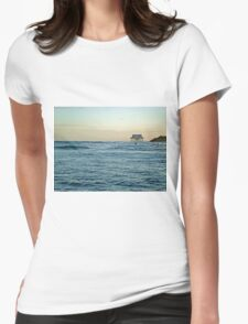Location, Location, Location!  Stick House on The Ocean Womens Fitted T-Shirt