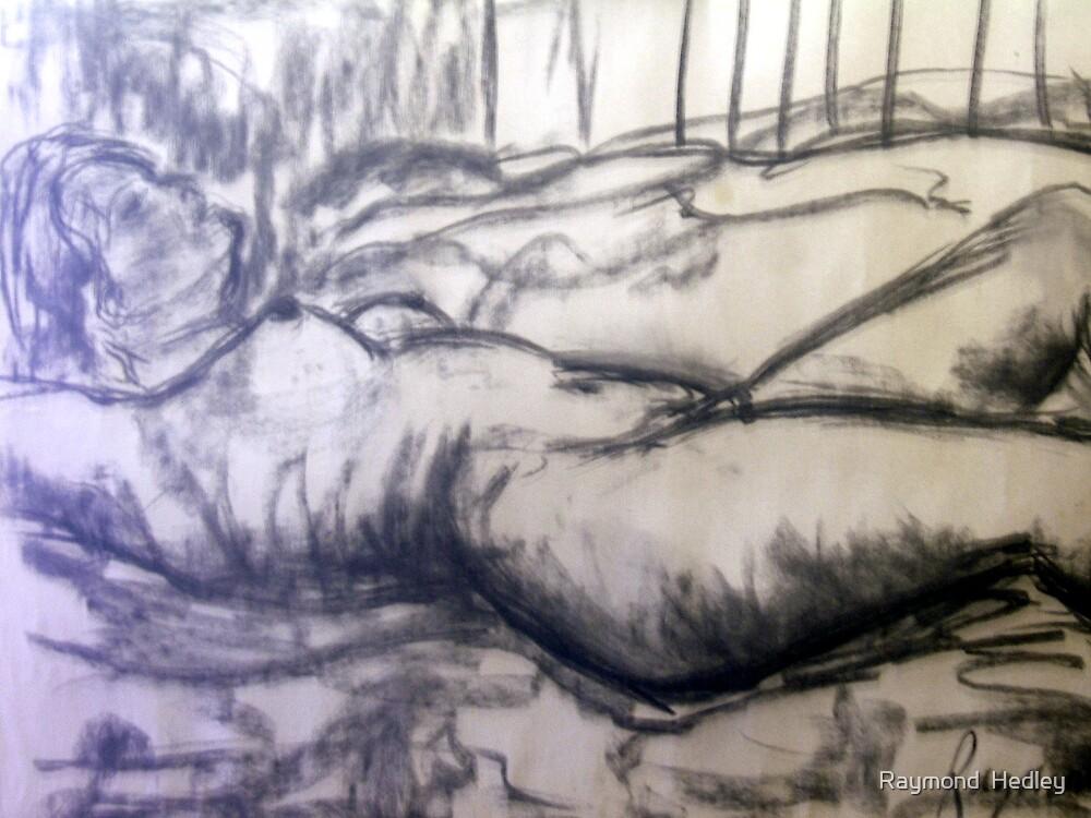 Anne 1969 Reclining Nude by Raymond  Hedley
