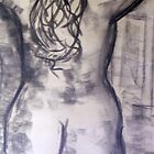 Anne 1969 Standing Nude. by Raymond  Hedley