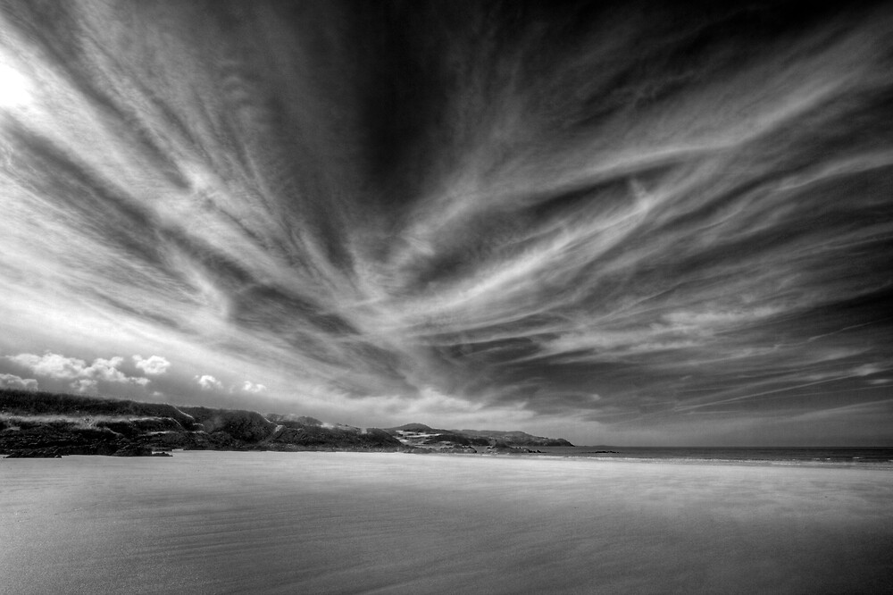 Donegal Beach in Black and White by Kevin Hart