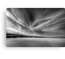 Donegal Beach in Black and White Metal Print