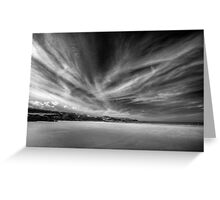 Donegal Beach in Black and White Greeting Card