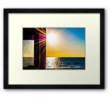 Henley Beach at Sunset Framed Print