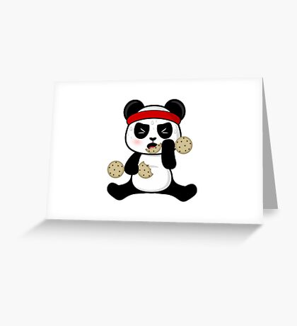 Workout panda Greeting Card