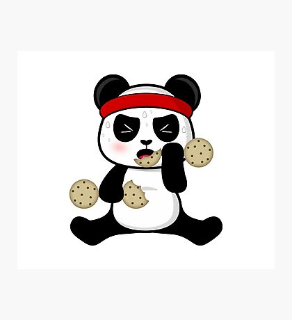Workout panda Photographic Print