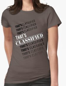 """""""That's Classified"""" - Eugene Porter Womens Fitted T-Shirt"""