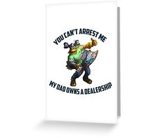 League of Legends Brolaf 1 Greeting Card