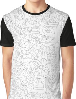 Bloomin' Empire - Black & White Graphic T-Shirt