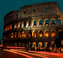 Colosseum by Night by MrSynthetic