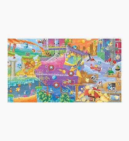 Sonic 2 Fresco  Photographic Print