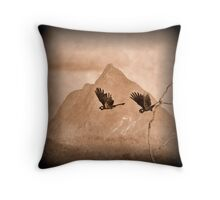 Black Cockatoos Mt Beerwah Throw Pillow
