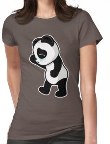 Sad Panda Womens Fitted T-Shirt