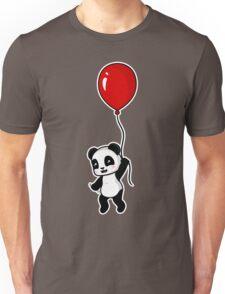 Red Balloon Panda Unisex T-Shirt