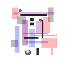 PASTEL BLOCK ABSTRACT DESIGN by ackelly4
