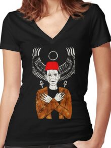 IMHOTEP T-Shirt by Allie Hartley  Women's Fitted V-Neck T-Shirt