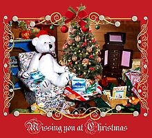 Missing You at Christmas (card) by Nadya Johnson