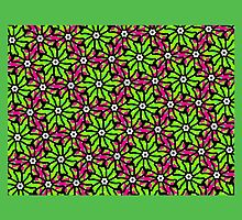 GREEN and PINK TROPICAL FLORAL DESIGN by ackelly4