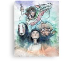 Spirited Away Miyazaki Tribute Watercolor Painting Canvas Print