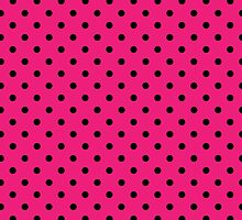 Polkadots Pink and Black by Medusa81