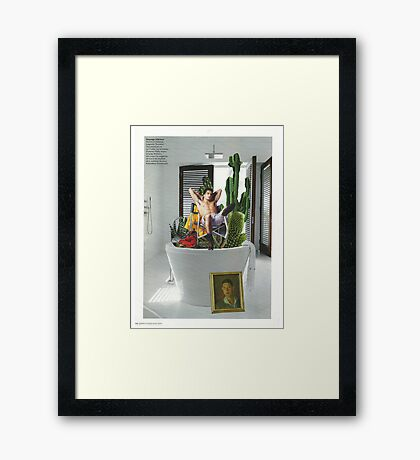 Cactus bath Framed Print