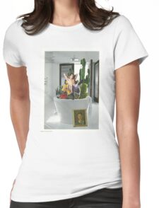 Cactus bath Womens Fitted T-Shirt
