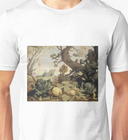 Abraham Bloemaert - Landscape With Fruits And Vegetables In The Foreground Unisex T-Shirt