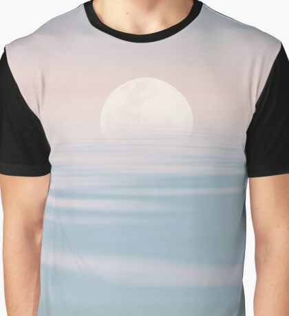 Full Moon over Calm Waters Graphic T-Shirt