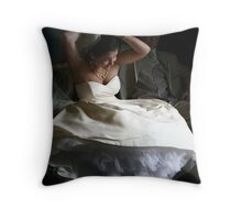 Barefoot Bride Throw Pillow