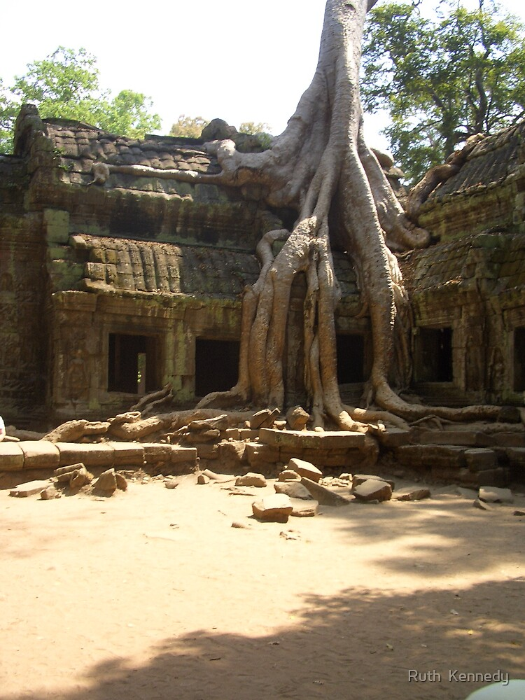 Jungle Temple Cambodia 2 by Ruth  Kennedy