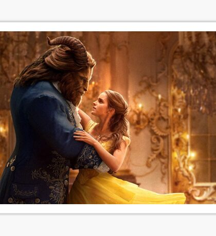 Beauty and the Beast Movie Art Sticker