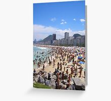 Busy Beach Greeting Card