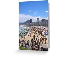 Busy Beach Greeting Card