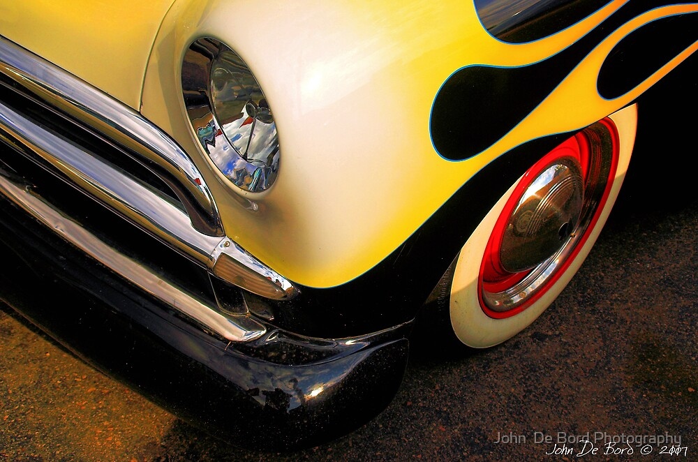 5-0 Flamed Ford by John  De Bord Photography